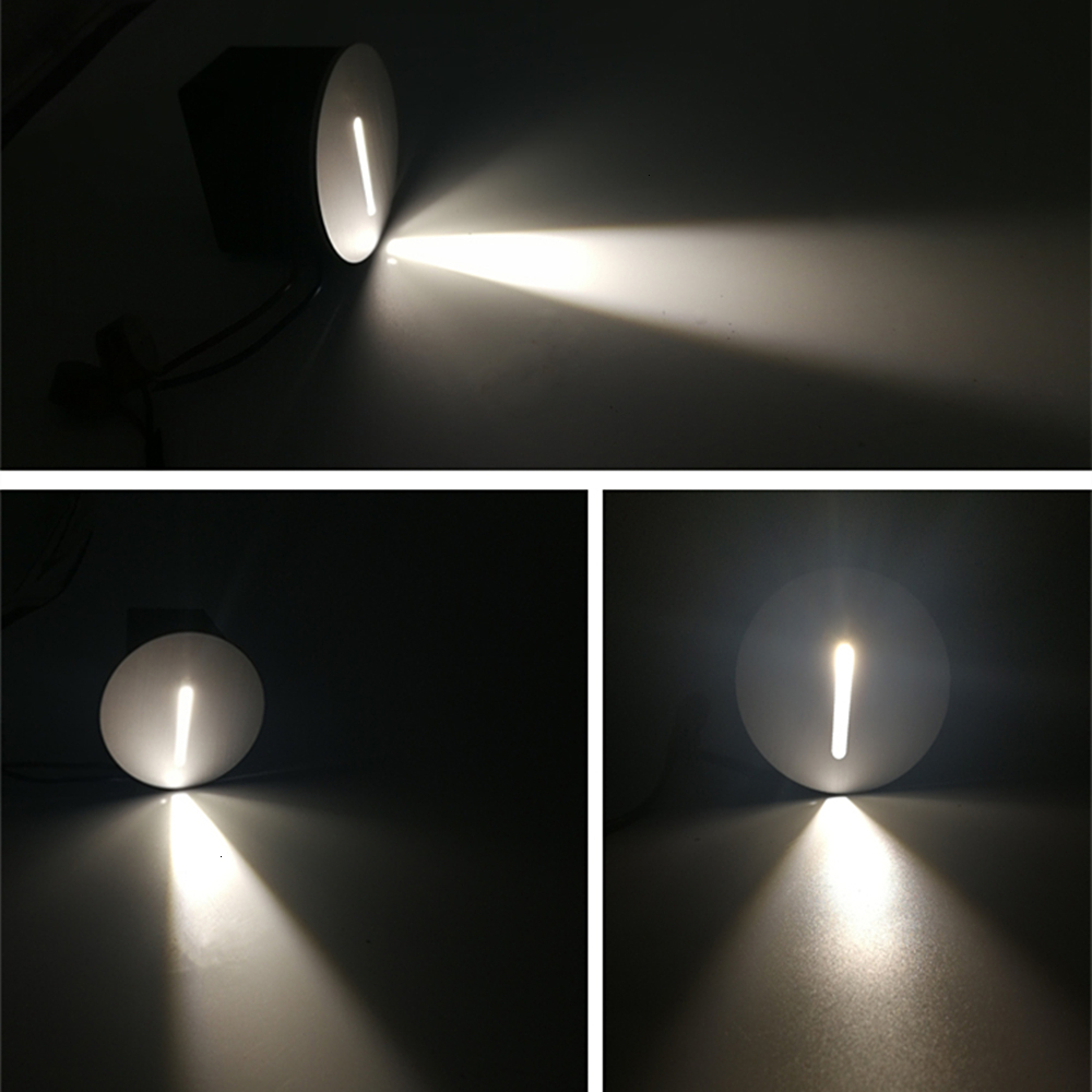 Led Wall Lamp 3W Stair Light AC85-265V Step Light Indoor Recessed Staircase Lamp Stairway Corridor Wall Foot Lamp Sconce Lights (3)