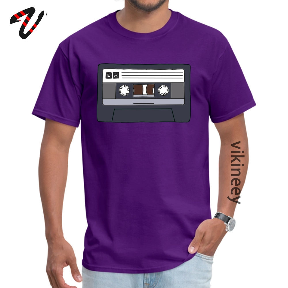 Lacassette Summer Cotton Fabric O-Neck Tops Shirt Short Sleeve Unique Sweatshirts Faddish Classic T-Shirt Drop Shipping Lacassette 7654 purple