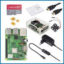 S ROBOT Raspberry Pi 3 Model B Plus kit WiFi&Bluetooth with 3A Power Adapter Acrylic Case Cooler For Raspberry pi 3B+ Plus RPI52