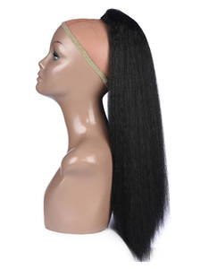 Lydia Straight Hair Ponytail-Extension Combs Drawstring Heat-Resistant Synthetic Plastic