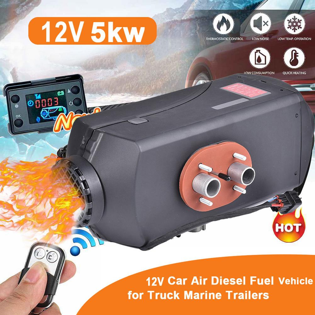39X15X18cm//Red,Black Motorhome Trailer,Trucks Boats,Caravans Car Heater,5KW 12V//24V Air Diesels Timing Parking Heater With LCD Display Monitor//Timer For RV