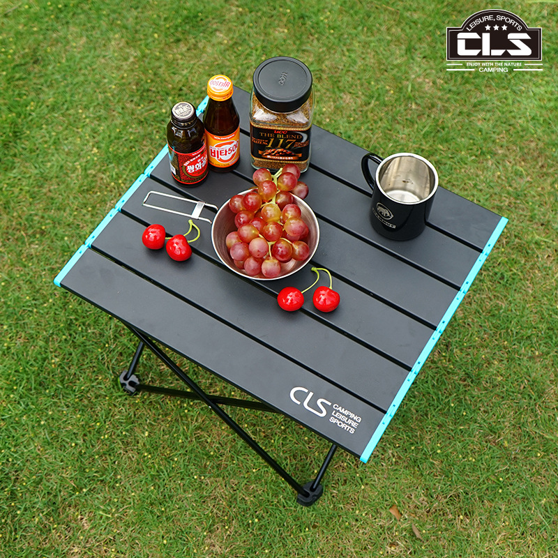 utdoor folding table mini portable climbing camping barbecue table light aluminum table Outdoor Camping travel title=