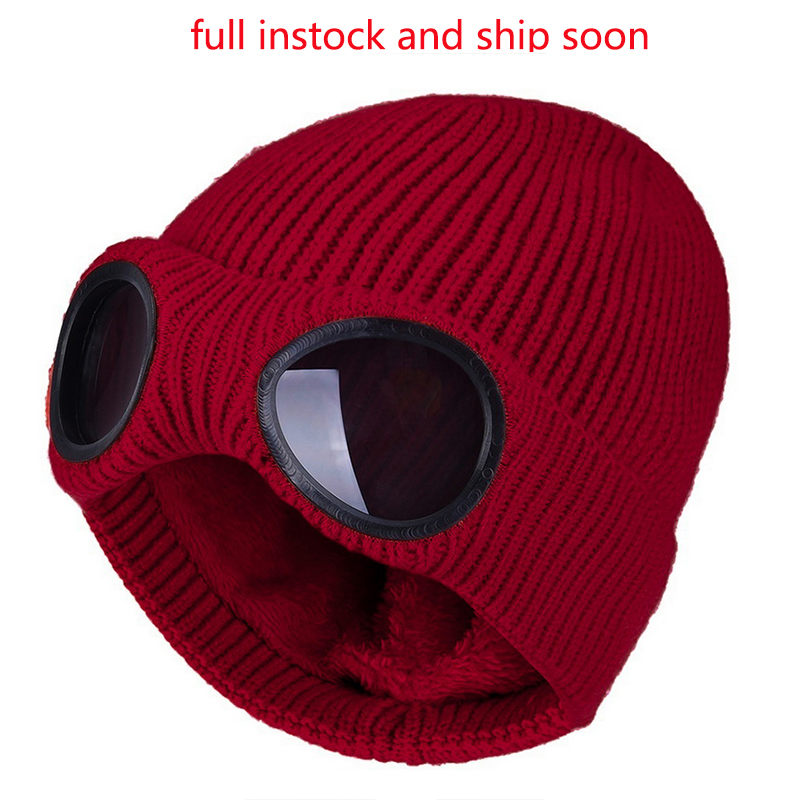 Knit Hats Glasses Removable Winter Sports Unisex New-Fashion Adult Windproof with Warm title=