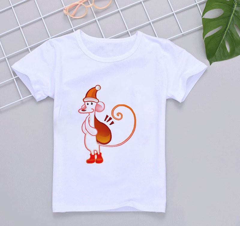 Unicorn Chicken Summer T-Shirt Childrens Fashion Simple and Comfortable