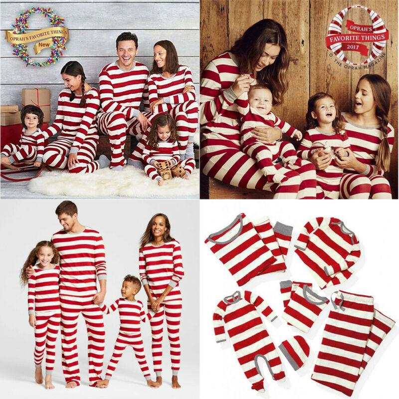 puseky Parent-Child Christmas Family Matching Clothes Outfits Shirt Pants Homewear Pajamas Set