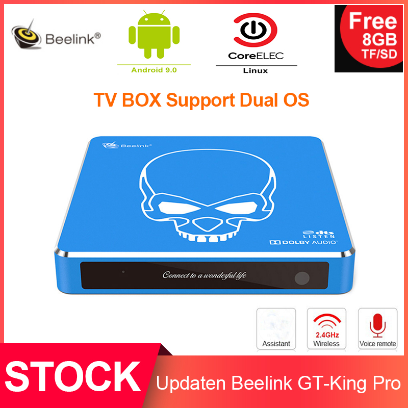 Beelink Remote-Control Tv-Box Dual-Operating-System Gt-King-Pro Linux Sound-4k Voice title=