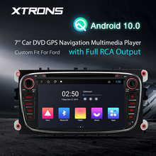 "XTRONS 7 ""Android 10,0 GPS навигация мультимедийный плеер для FORD Focus II Mondeo C-Max S-Max Galaxy II Kuga 2008-2012 RCA OBD(China)"