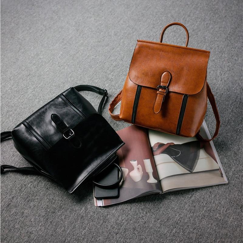 New Leather Handbags Cowhide Women/'s Backpack Shoulder Bag Fashion Simple Atmosphere Portable Backpack