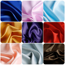 Encrypted Matte Satin Solid Color Diy Handmade Fabric Clothing Satin Wedding Lining Fabric By The Yard for Dress Blue Sequin