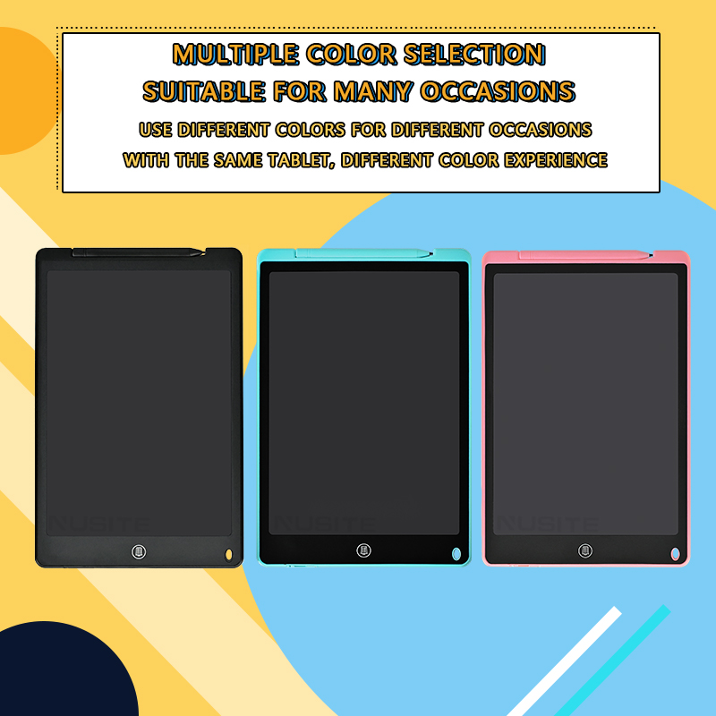 12 Inch LCD Writing Tablet Electronic Drawing Doodle Board Digital Colorful Handwriting Pad Gift for Kids and Adult Protect Eyes 7