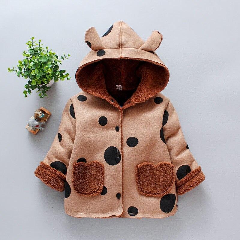 Cute Infants Winter Cotton Jackets Hooded Panda Coat Children Button Clothes New