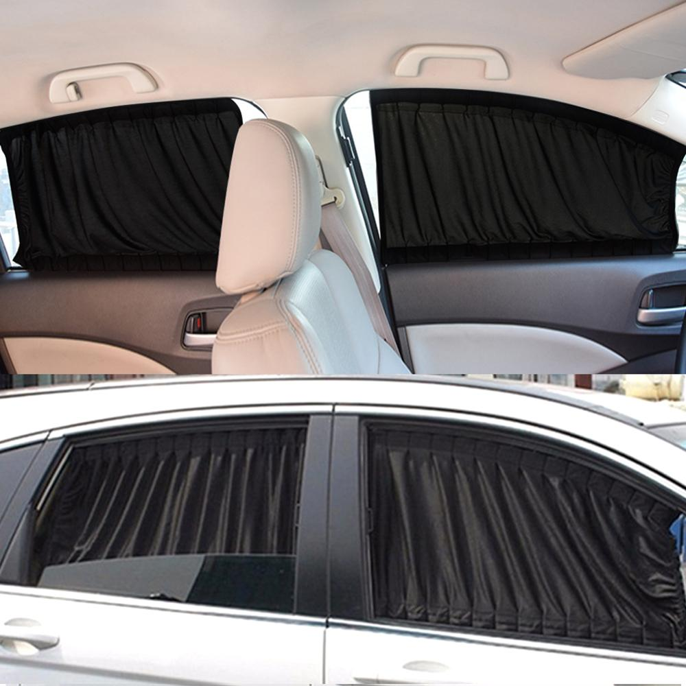 Curtain-Windshield Sunshade Valance Drape-Visor Car-Styling Adjustable title=