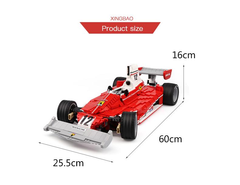 XingBao XB-03023 Red Power Racing Car Ferrariii 312T Building Block 45