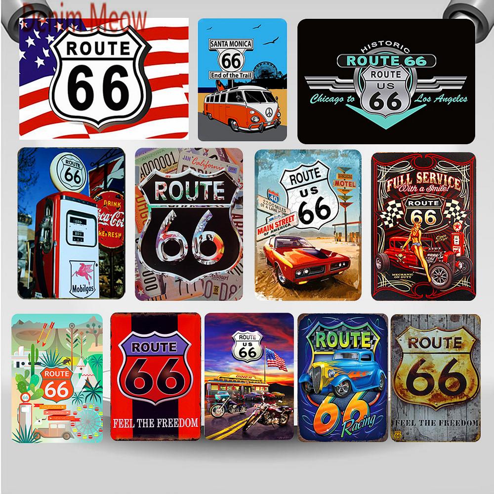 Details about  /Metal Tin Sign get your kicks route 66  Decor Bar Pub Home Vintage Retro Poster