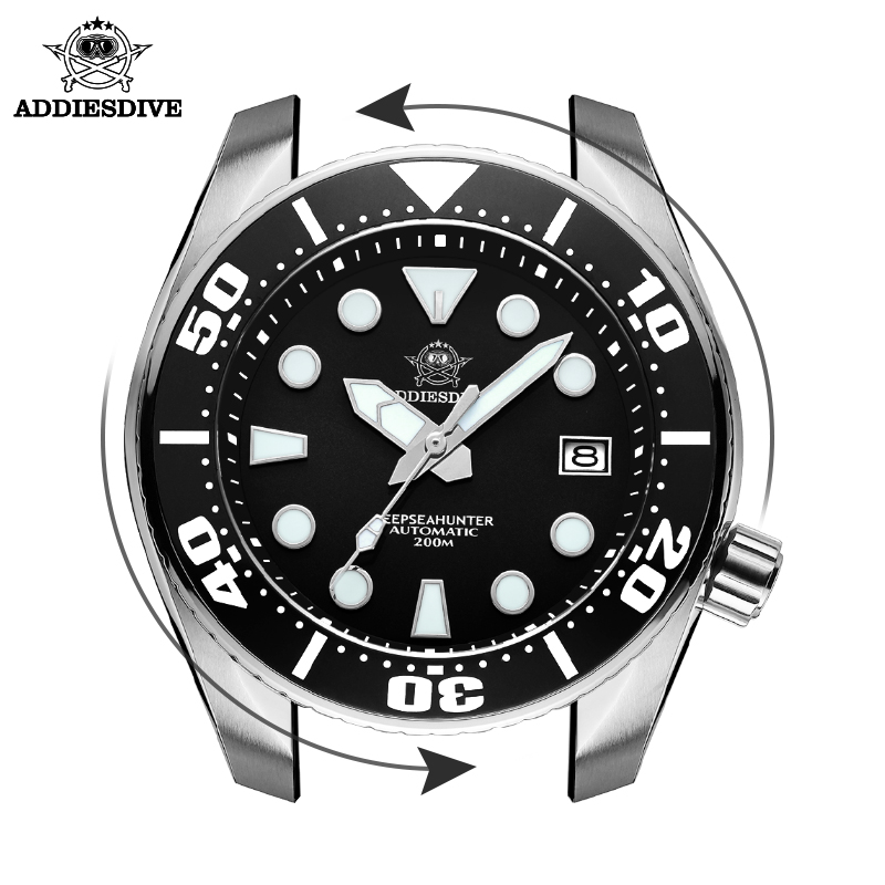 Men's watch NH35 stainless steel Automatic mechanical watch BGW9 Luminous ar coating Sapphire crystal calendar 200M diving watch