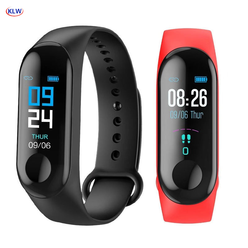 KLW Bluetooth Smart watch Heart Rate Blood Pressure Monitor Fitness Activity Tracker Sports Smart Band Wristbands Phone Mate title=