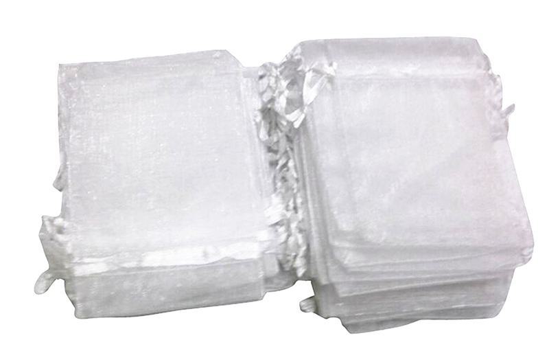 100Pieces 10x13cm White Organza Bags Wedding Pouches Christmas Gift Bag Nice Jewelry Packaging Bags