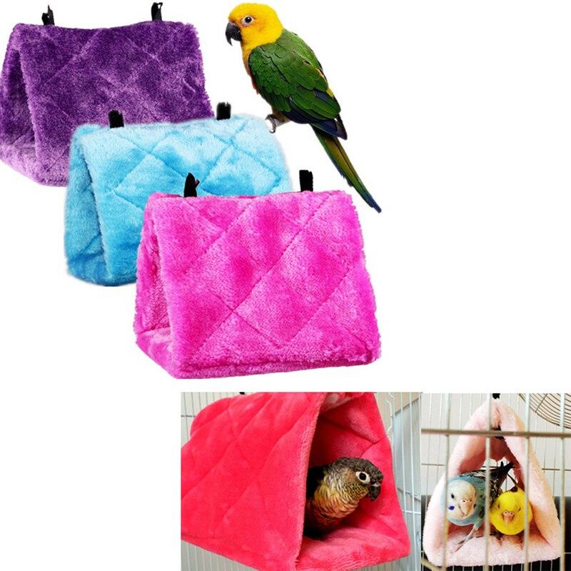 Pet Hamster Cage House Hanging Nest Parrot Parakeet Budgie Cockatiel Warm Bed Rat Hammock Bird Winter Toys