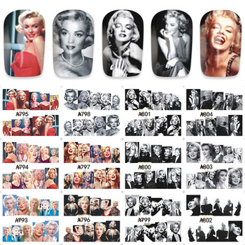 ZKO 12pcs/Sheet Sexy Goddess Water Transfer Nail Art Sticker Kids Decals DIY Decoration For Beauty Nail Tools A793-840