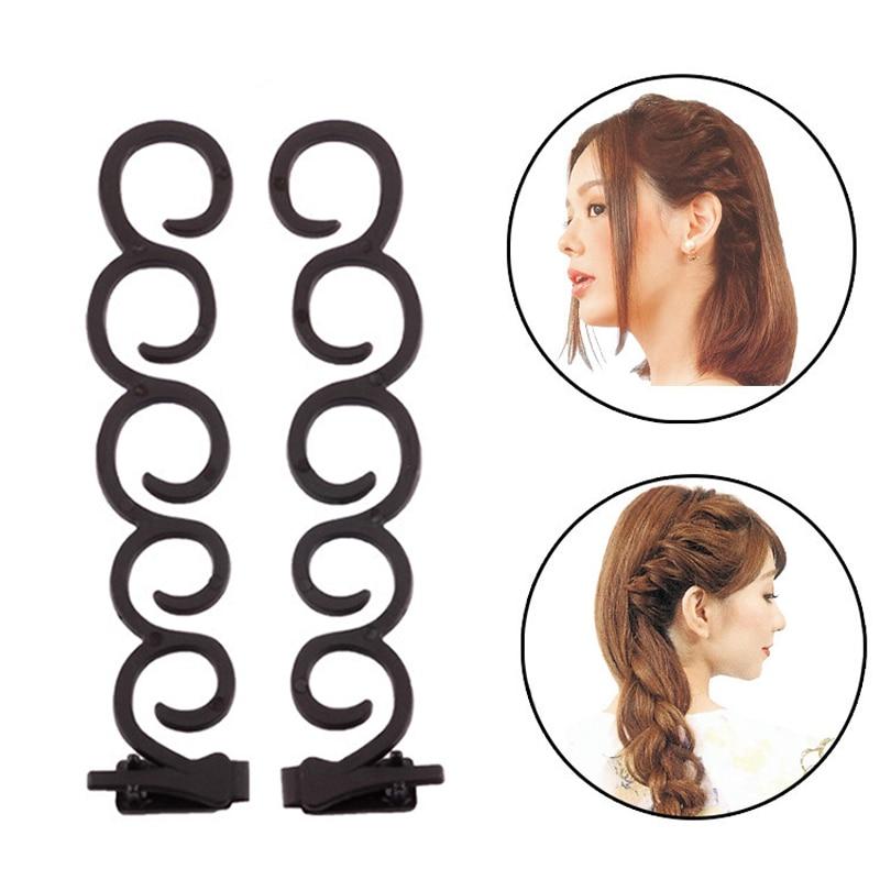 kit acessórios para cabelos com grampos para penteados e prendedores para tranças