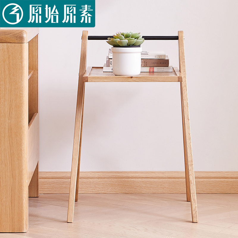 All Solid Wood Side Table Coffee Table Corner Table Modern Nordic Simple Oak Side Table Solid Wood Living Room A5171