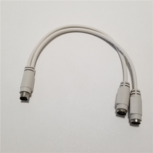 1-To-2 Splitter-Adapter-Cable for Mouse Keyboard IC Card-Reader Laser-Scanner PS2 Ps/2