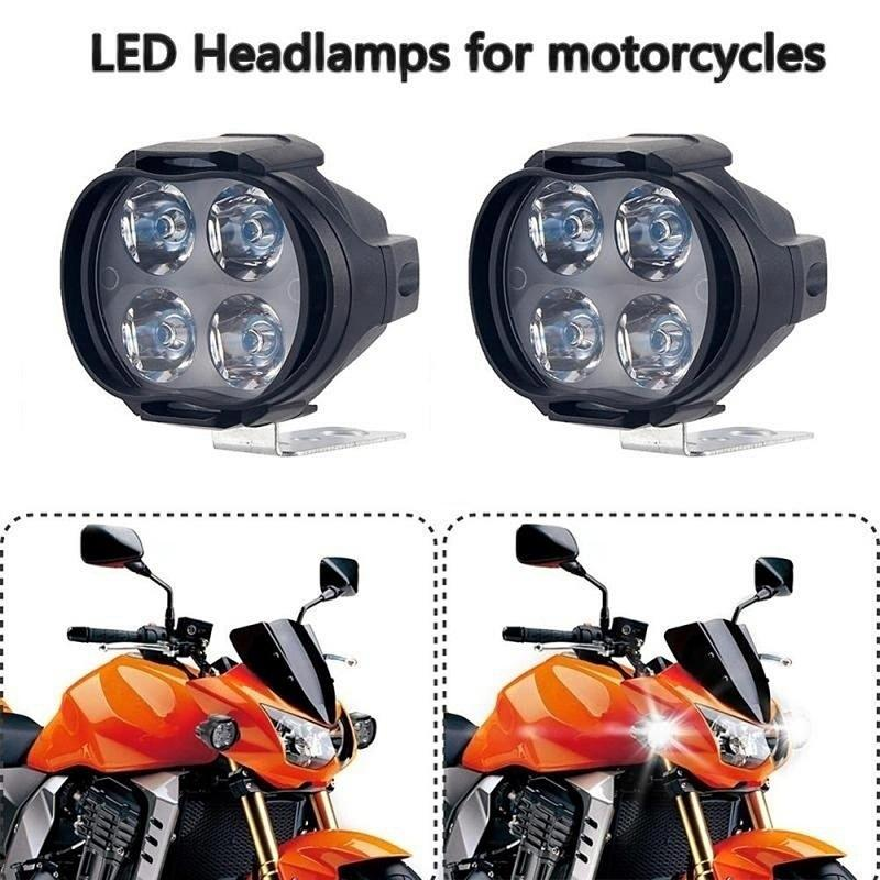Headlamp Spotlights Car-Parts Motorcycle-Accessories Driving-Light Front 12V Low-Power-Consumption title=