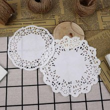 Cup-Pad Tableware Wrap-Paper Cone Wedding-Flower Candy Party Doilies Cake-Mats White