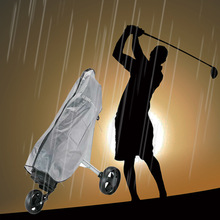 Bag Store Rain-Cover Wear-Resistant Golf Waterproof PVC Rod-Protector Zipper Transparent