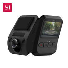 YI Mini Dash Cam 1080p FHD видеорегистратор Wi-Fi Автомобильная камера с широкоугольным объективом 140 градусов ночное(Китай)