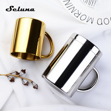 Coffee Mug Tea-Mugs Tumbler Milk-Cups Stainless-Steel Travel Thermal-Insulation Kids