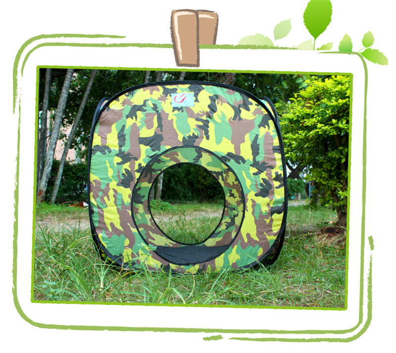 3 in 1 Camouflage Outdoor Playhouse Tunnel Tent for Baby Children Waterproof Two Rooms Tunnel Tents 2307085cm Kids' Gift Toys (2)