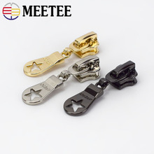 10pcs Meetee 5# Metal Zipper Head Auto Lock for Metal or Nylon Zippers Slider Zip Repari Kit DIY Bags Garment Sewing Accessories
