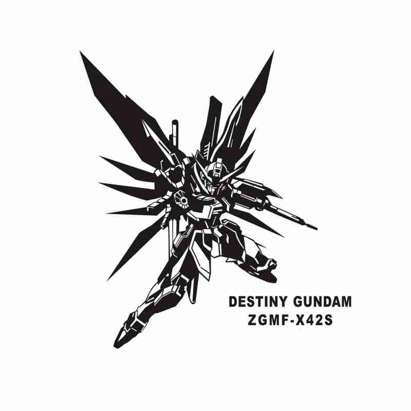 Pegatina GUNDAM Sticker Anime Cartoon Car Decal Sticker Vinyl Wall Stickers  Decor Home Decoration