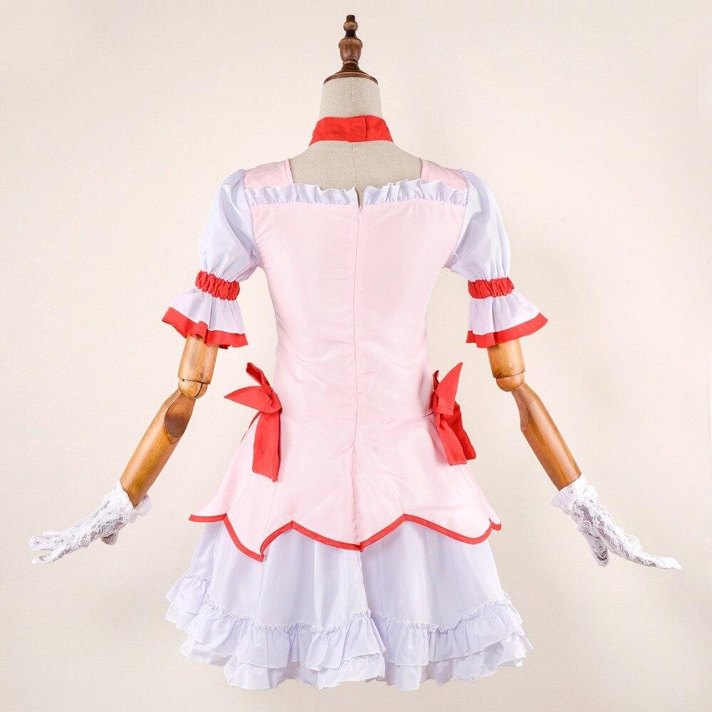 Anime Puella Magi Madoka Magica Kaname Madoka Cosplay Costumes Dress Headwear
