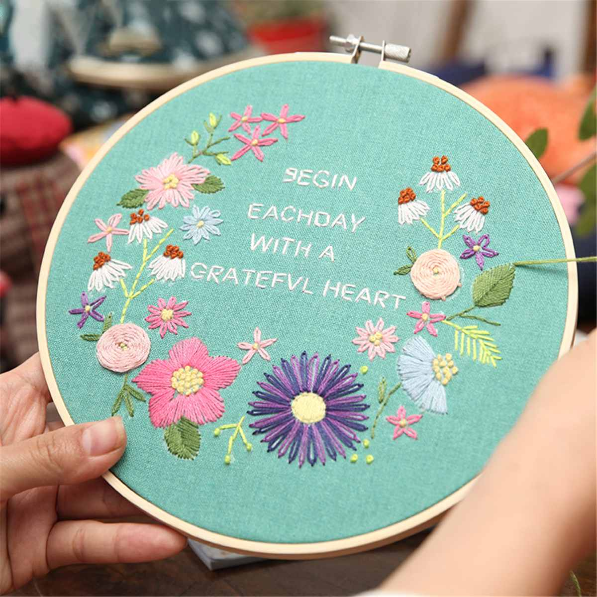 DIY Handcraft Needle Arts Sewing Tools Embroidery Hoop Ring Cross Stitch Frame
