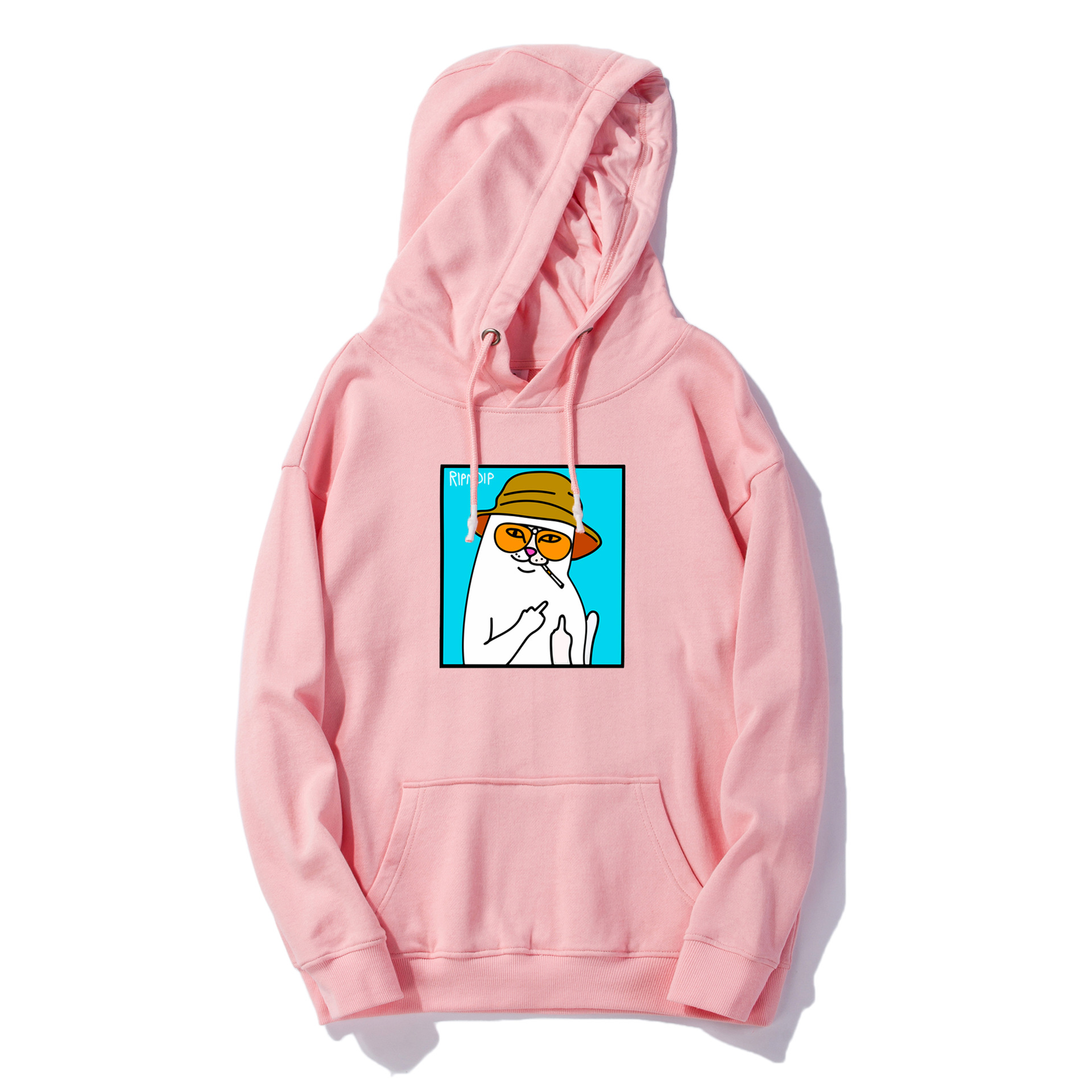 Hoodie Couples Streets Ripndip American New-Style Cheap European Pullove Cat-Printed title=