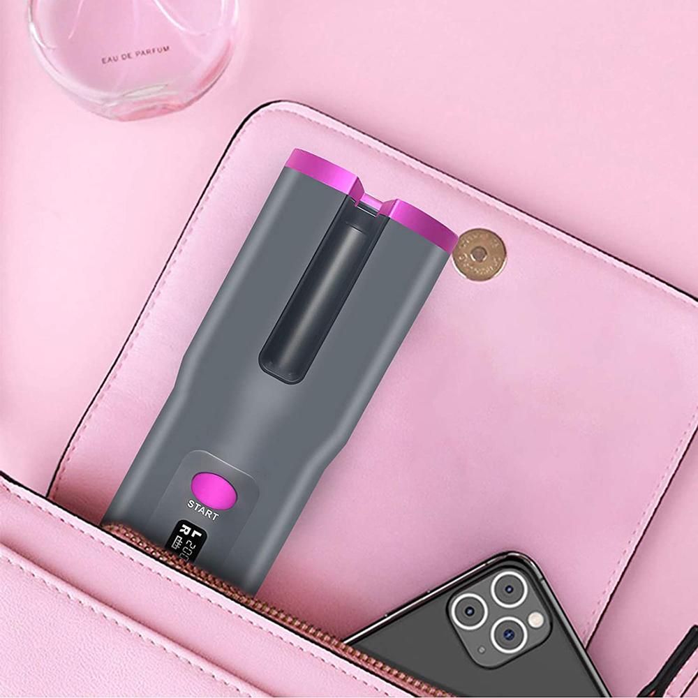 Fer à boucler automatique sans fil rechargeable pour bigoudis