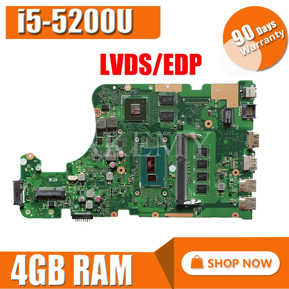For ASUS X555LD X555L X555LN X555LI X555LJ Motherboard I7 CPU GT820M Mainboard