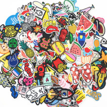 Iron-On-Patches Jeans Cartoon Cute for Clothing Stickers Kids Summer-Style 30pcs/Lot