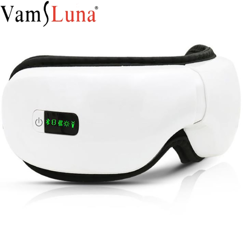 Smart USB Electric Heated Eye Massager Mask Wireless Foldable Adjustable 3Model