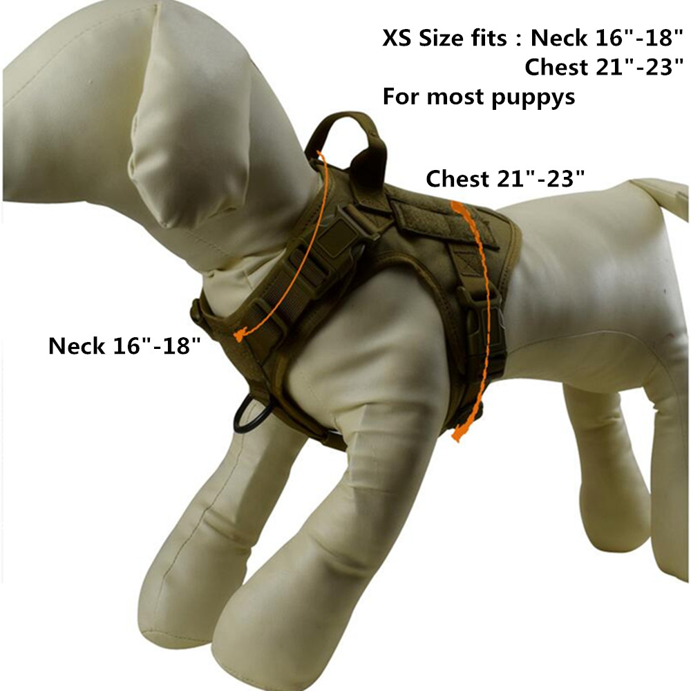 tactical dog vest Size