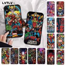 LVTLV Marvel Мстители герой комиксы DIY Печать чехол для телефона iPhone 11 pro XS MAX 8 7 6 6S Plus X 5S SE 2020 XR чехол(Китай)