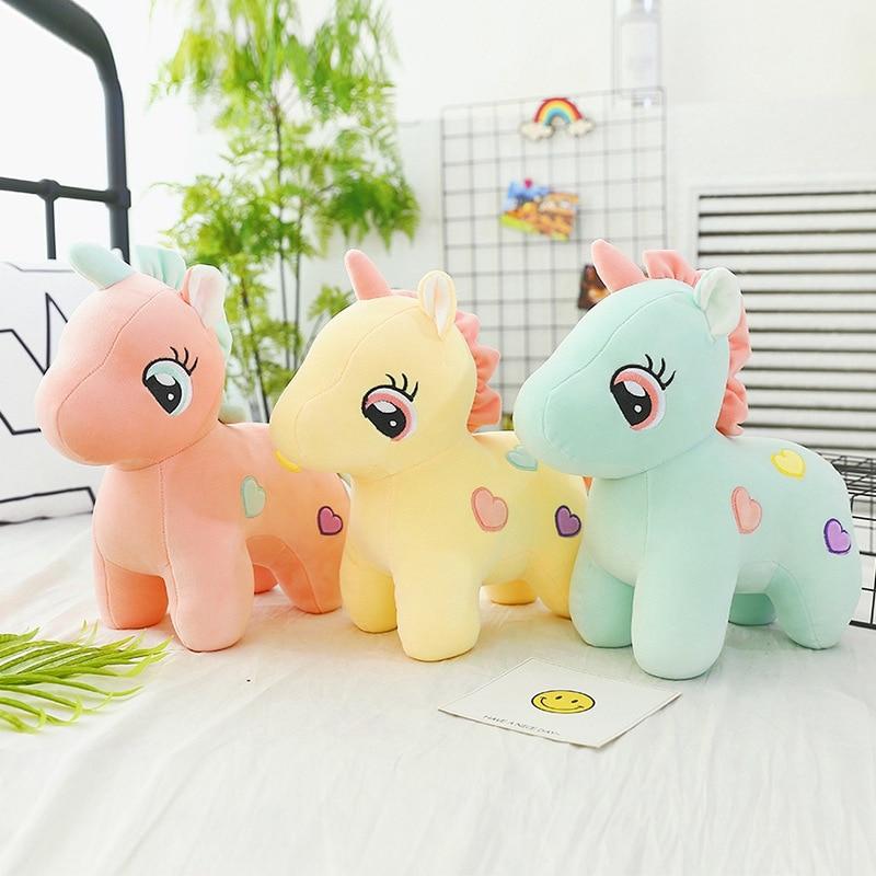 Plush Toy Peluche Kawaii Unicorn Soft Stuffed Animal Unicorn Soft Dolls Horse Stuffed Toys For Children Pillow Gift Plush Animal