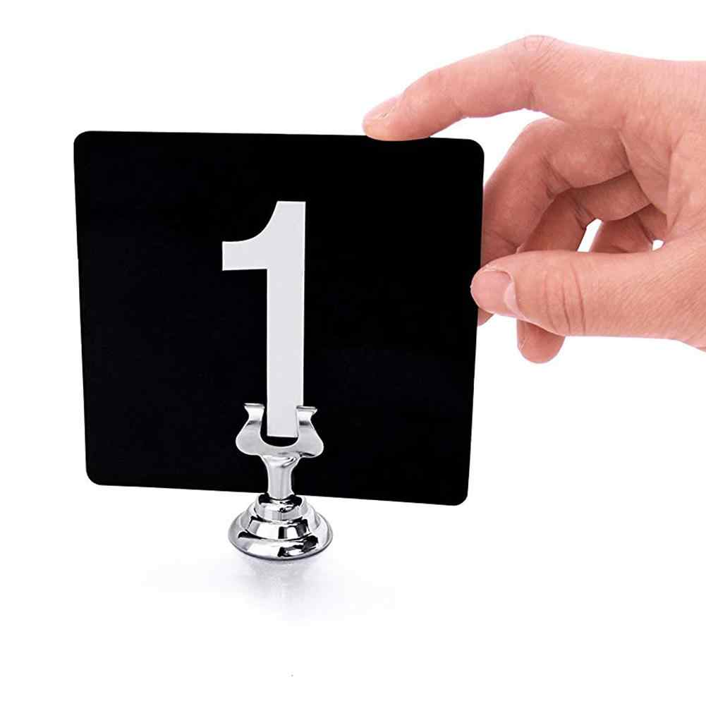 Hot Metal watch number card holder photo note clip clip wedding party banquet catering table decoration clip