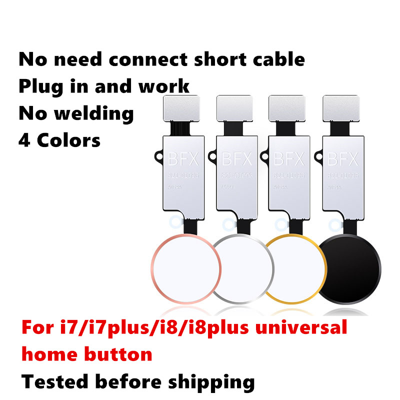 NEW Universal Home Button For iPhone 7 7 plus 8 8 plus Button flex cable Restore ordinary Button Replacement return functions title=