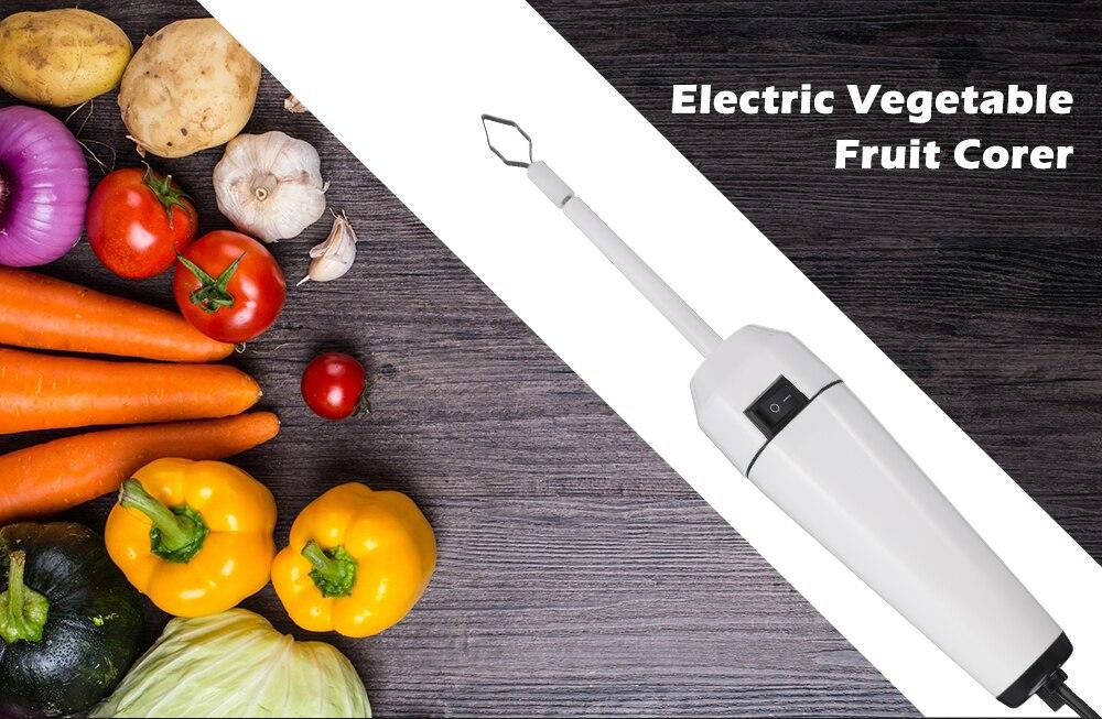 Electric Scraping Scale Machine,Stainless Steel Fruit Corer Spiralizer Scraping Scale Machine,Fruit Corer Tool,Zucchini Pumpkin Cucumber Corer