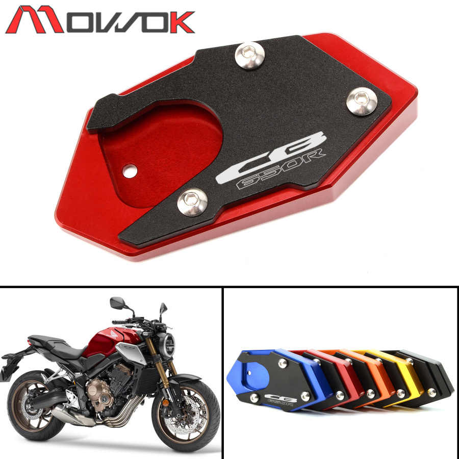 D DOLITY Motorcycle Kickstand Foot Side Stand Extension Pad Support Fits for Honda CBR250R CBR300R CBR650F CB500F NC700X NC700S Black Helps Park