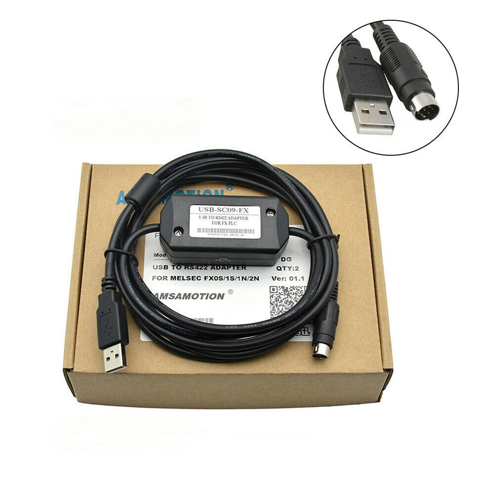 PLC Cable USB-SC09 gold plate USB to RS422  for Mitsubishi PLC yellow