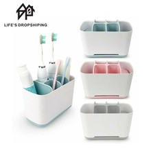 Organizer Bathroom Accessories-Stand Toothpaste-Holder Shaving-Brush Makeup Electric-Teeth-Brush
